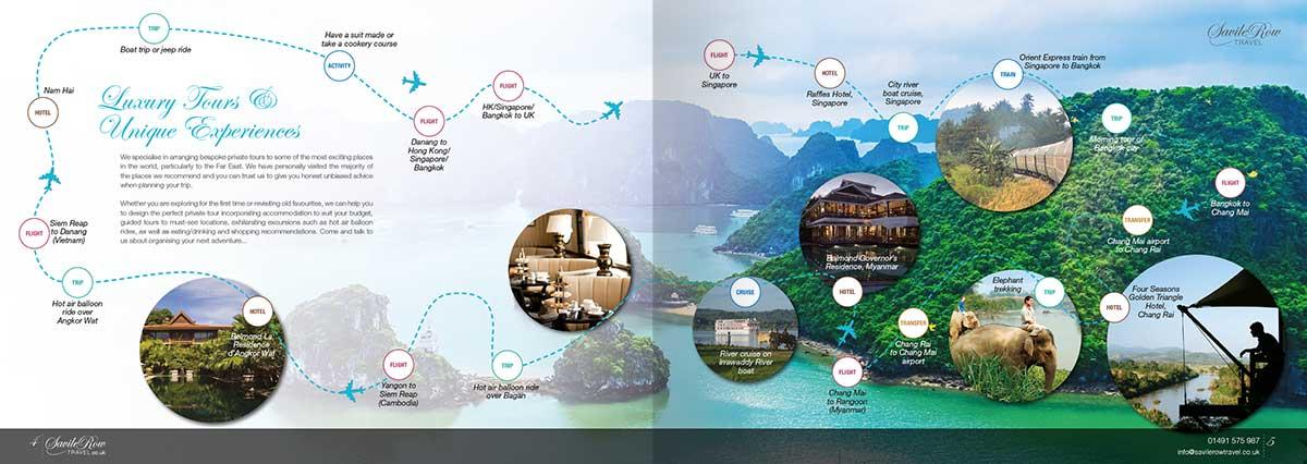 Savile Row Travel Brochure Design